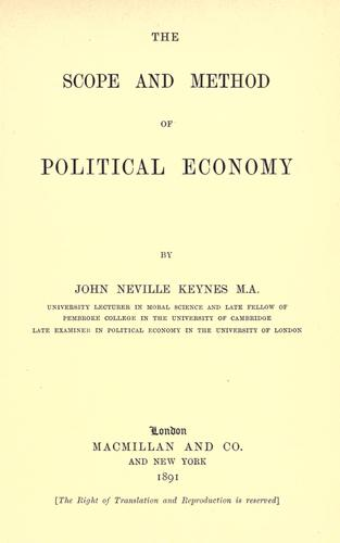 Download The scope and method of political economy