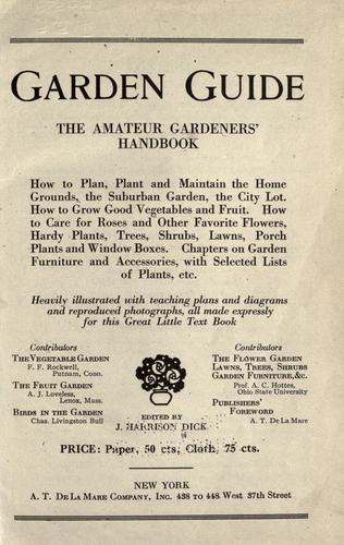 Download Garden guide, the amateur gardener's handbook