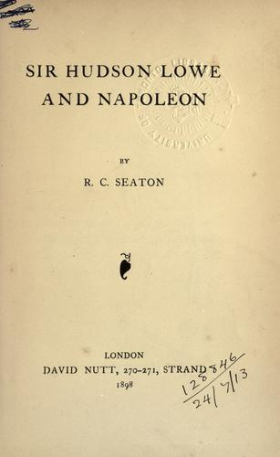 Download Sir Hudson Lowe and Napoleon.