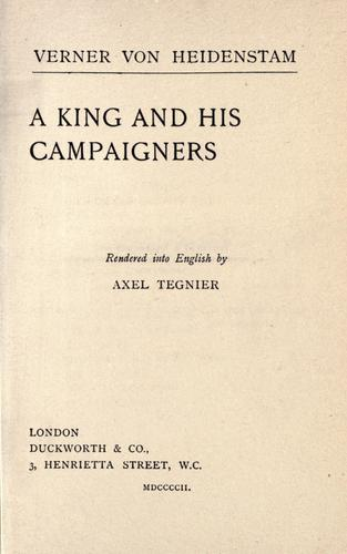 Download A king and his campaigners