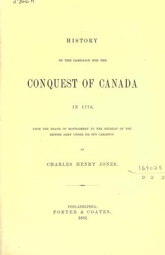 Download History of the campaign for the conquest of Canada in 1776