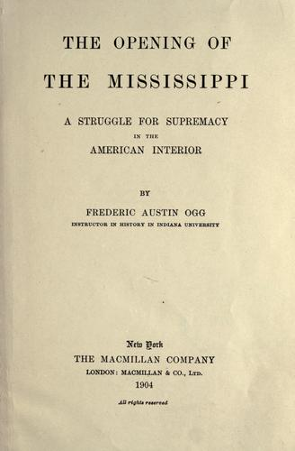 Download The opening of the Mississippi