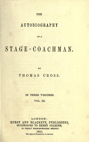 The autobiography of a stage-coachman.