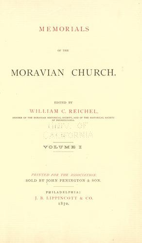 Memorials of the Moravian church.