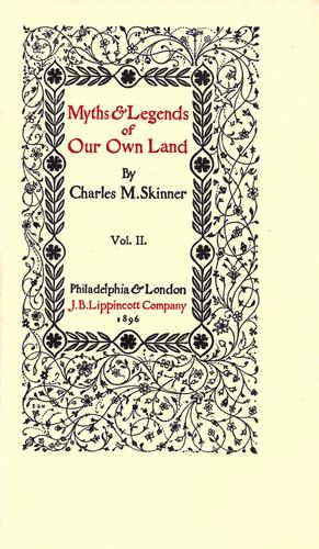 Download Myths & legends of our own land