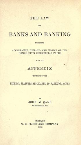 Download The law of banks and banking