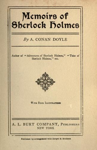 Memoirs of Sherlock Holmes.