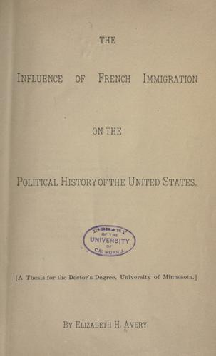 Download The influence of French immigration on the political history of the United States