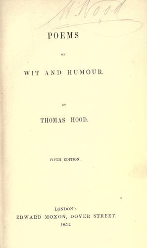 Poems of wit and humour.