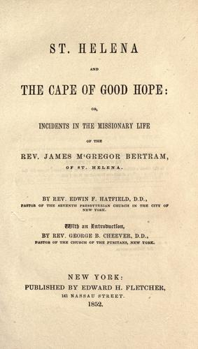 St. Helena and the Cape of Good Hope