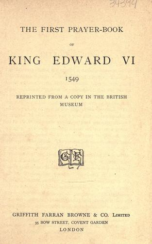 Download The first prayer-book of King Edward VI, 1549.