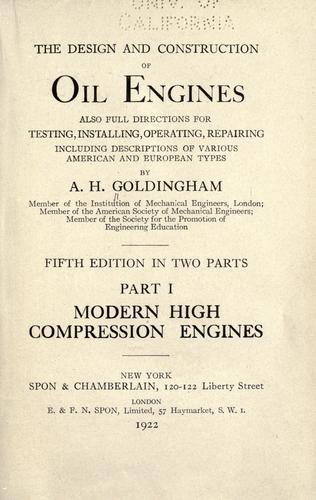 Download The design and construction of oil engines