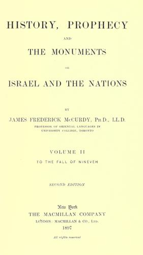 Download History, prophecy and the monuments