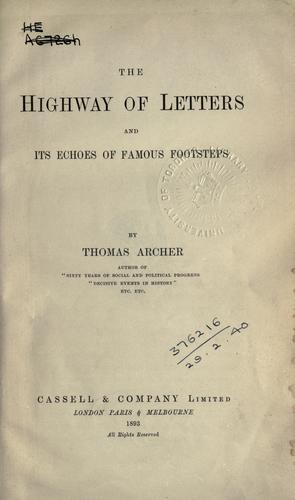 Download The highway of letters and its echoes of famous footsteps.