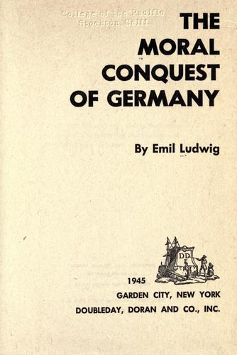 Download The moral conquest of Germany.