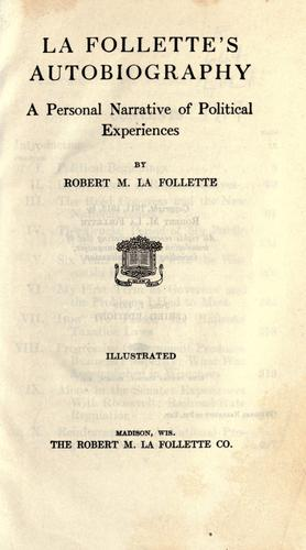 Download La Follette's autobiography