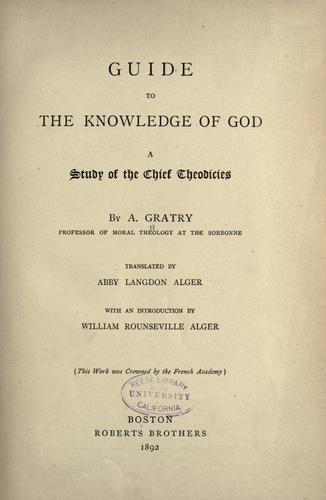 Download Guide to the knowledge of God