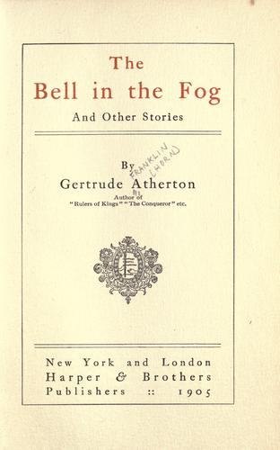 The  bell in the fog, and other stories.