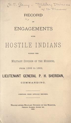 Download Record // of // engagements // with // hostile Indians // within the // Military division of the Missouri