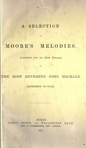 Download A selection of Moore's melodies