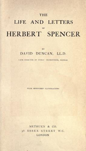 Download The life and letters of Herbert Spencer…