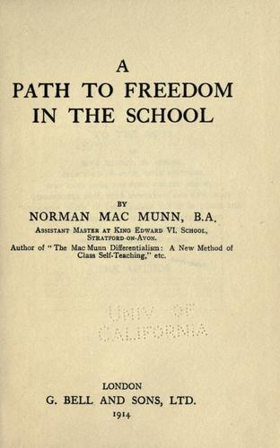 Download A path to freedom in the school