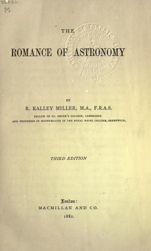 Download The romance of astronomy.