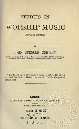 Studies in worship music.