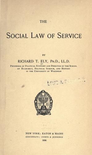 Download The social law of service