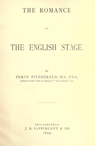 Download The romance of the English stage.