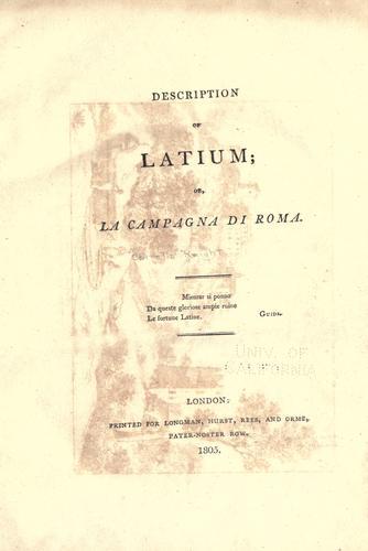 Description of Latium