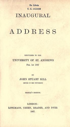 Download Inaugural address
