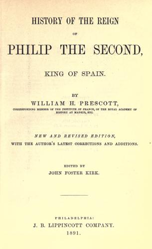 Download History of the reign of Philip the Second, king of Spain.
