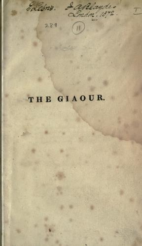 Download The Giaour, a fragment of a Turkish tale.