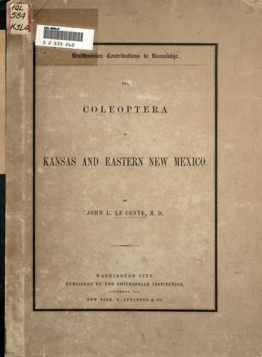 Download The Coleoptera of Kansas and eastern New Mexico.