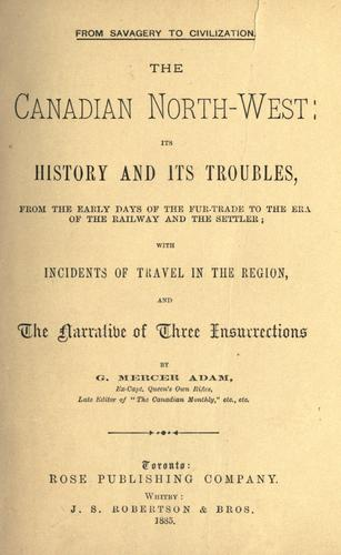 The Canadian North-west