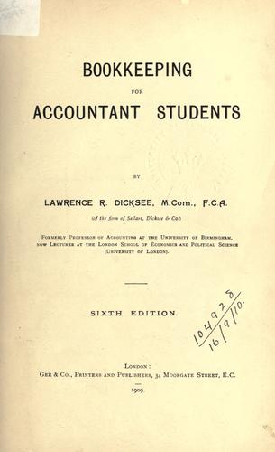 Download Bookkeeping for accountant students.