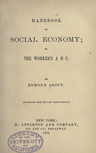 Handbook of social economy