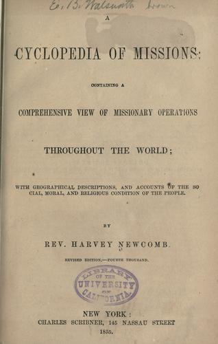Download A cyclopedia of missions