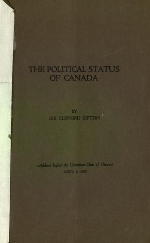 The political status of Canada