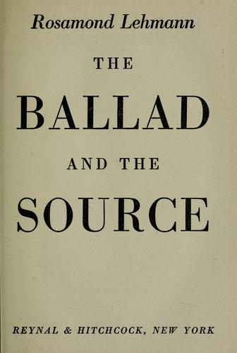 The ballad and the source.
