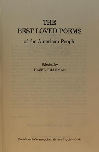 The best loved poems of the American people.