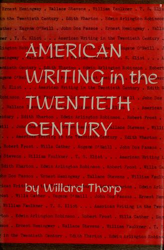 American writing in the twentieth century.