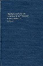 Higher Education: Handbook of Theory and Research/Volume 1