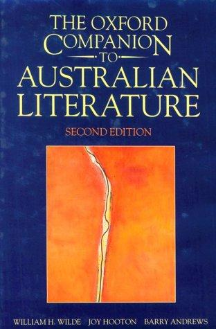 The Oxford companion to Australian literature