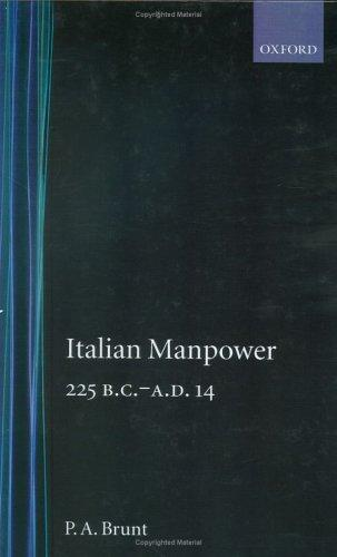 Italian manpower, 225 B.C.-A.D. 14
