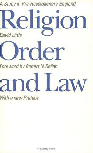 Download Religion, order, and law