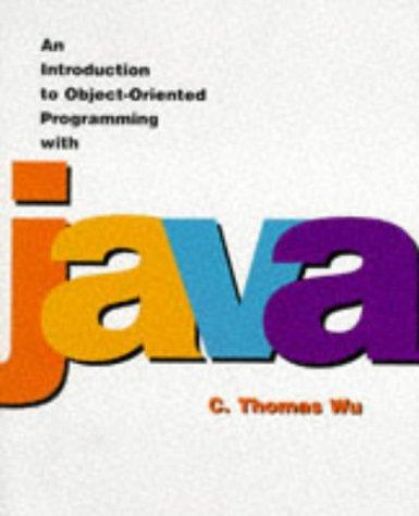 An introduction to object-oriented programming with Java