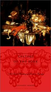 Culture of the Fork [Hardcover] by Rebora, Giovanni and Sonnenfeld, Albert