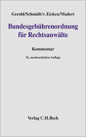 Download Bundesgebührenordnung für Rechtsanwälte